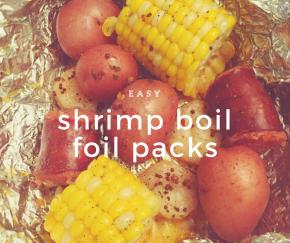 """Grilled Shrimp """"Boil"""" FoilPacks"""