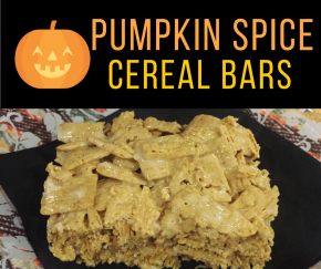 {3 Ingredient} Pumpkin Spice CerealBars